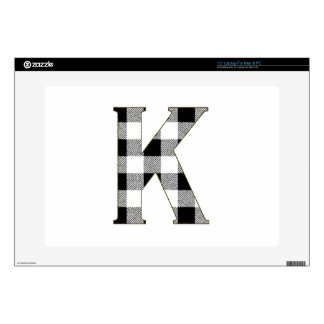 """Gingham Check K 15"""" Laptop Decal"""