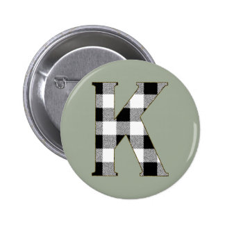 Gingham Check K Button