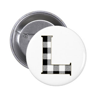 Gingham Check L Button