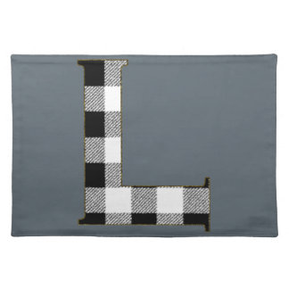 Gingham Check L Cloth Placemat