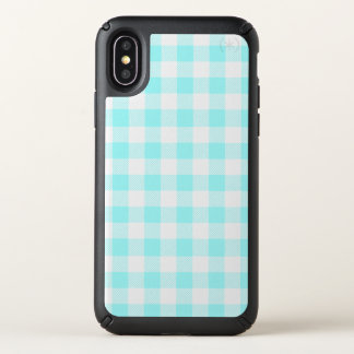Gingham Check Light Blue Speck iPhone X Case
