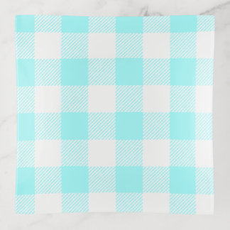 Gingham Check Light Blue Trinket Trays