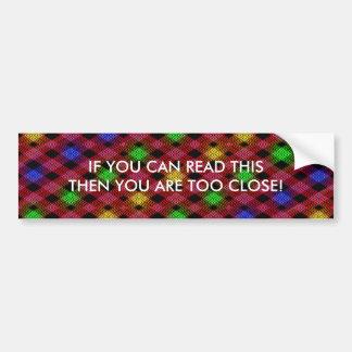 Gingham Check Multicolored Pattern Bumper Sticker