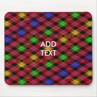 Gingham Check Multicolored Pattern Mouse Pad