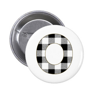 Gingham Check O Pinback Button