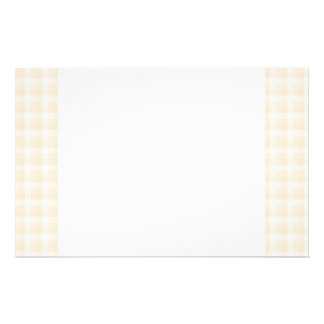 Gingham check pattern. Beige and White. Stationery