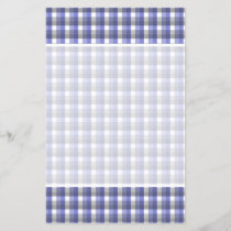 Gingham check pattern. Blue, Gray, White.