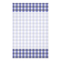 Gingham check pattern. Blue, Gray, White. Flyer