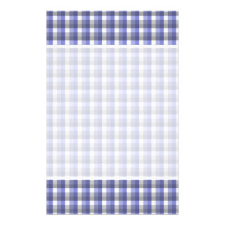 Gingham check pattern. Blue, Gray, White. Flyer