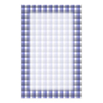 Gingham check pattern. Blue, Gray, White. Stationery