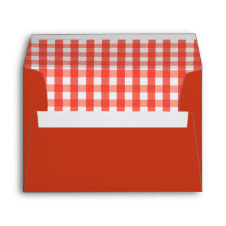 Gingham Check Pattern Envelope