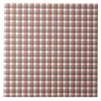 Gingham check pattern. Gray, Brown and White Tile