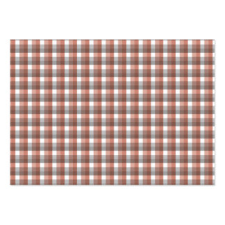 Gingham check pattern. Gray, Red - Brown White Business Card Templates