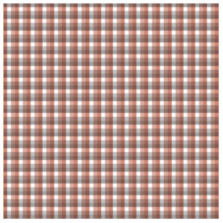 Gingham check pattern. Gray, Red - Brown White Statuette