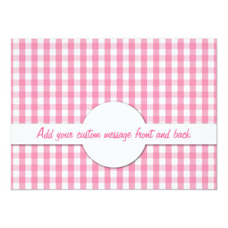 Gingham Check Pattern Personalized Invitation