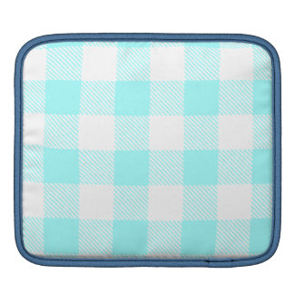 Gingham Check Pattern (light blue) Sleeve For iPads