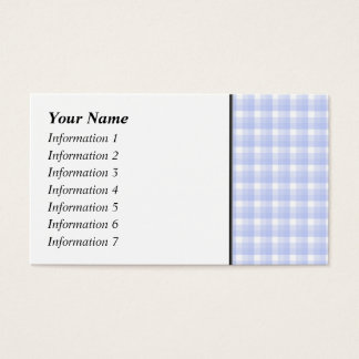 Gingham check pattern. Light Blue & White. Business Card