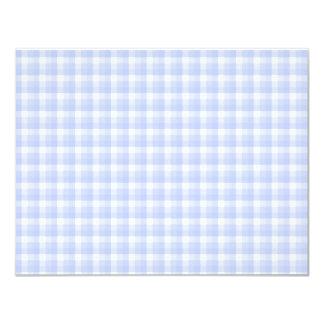 Gingham check pattern. Light Blue & White. Card
