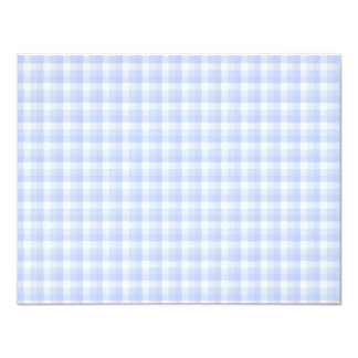 Gingham check pattern. Light Blue & White. Personalized Announcement