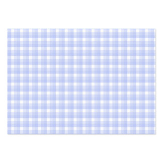 Gingham check pattern. Light Blue & White. Large Business Card