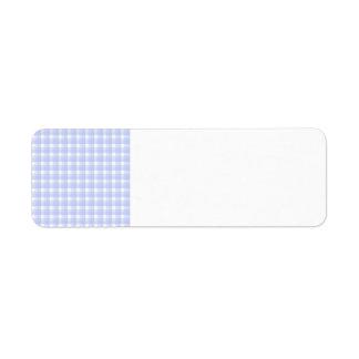 Gingham check pattern. Light Blue & White. Return Address Label
