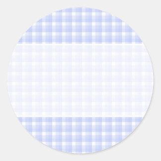 Gingham check pattern. Light Blue & White. Sticker