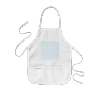 Gingham check pattern. Pale Blue and White. Kids' Apron