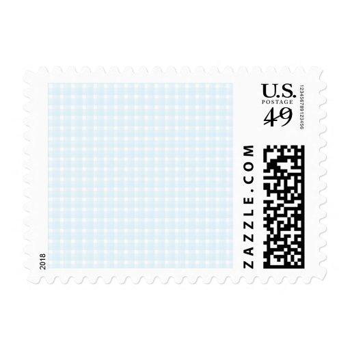 Gingham check pattern. Pale Blue and White. Postage Stamp