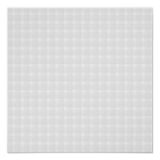 Gingham check pattern. Pale Gray and White. Print