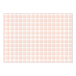 Gingham check pattern. Peach pink and white. Large Business Card