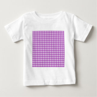 Gingham check pattern. Purple and White. Tee Shirt