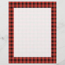 Gingham check pattern. Red and Black Plaid