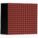 Gingham check pattern. Red and Black Plaid Binder