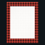 "Gingham check pattern. Red and Black Plaid Letterhead<br><div class=""desc"">Check pattern in red and black.</div>"