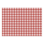 Gingham check pattern. Red and White. Business Card Templates