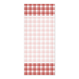 Gingham check pattern. Red and White. Card