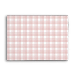 Gingham check pattern. Red and White. Envelope