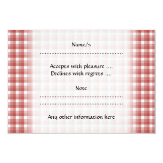 Gingham check pattern. Red and White. Personalized Invitations