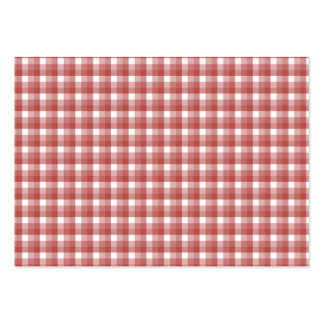 Gingham check pattern. Red and White. Large Business Card