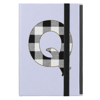 Gingham Check Q Cover For iPad Mini