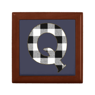 Gingham Check Q Jewelry Box