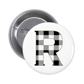 Gingham Check R Button