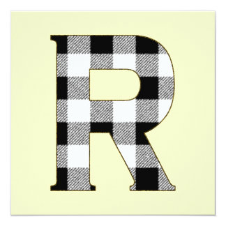 Gingham Check R Card