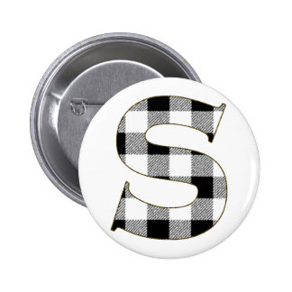 Gingham Check S Button