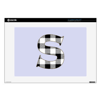 """Gingham Check S Decal For 15"""" Laptop"""