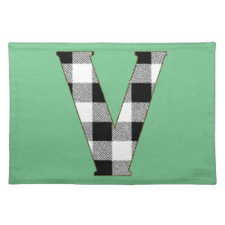 Gingham Check V Cloth Placemat