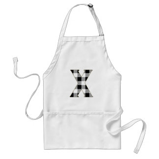 Gingham Check X Adult Apron