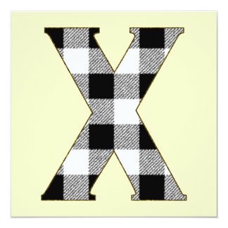 Gingham Check X Card