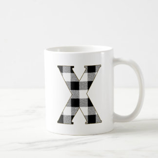 Gingham Check X Coffee Mug