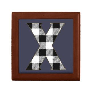 Gingham Check X Gift Box